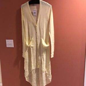 Free People Ribbed Up Maxi Cardi Size XS